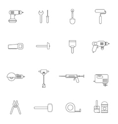 Home Repair Tools Icon Flat vector image