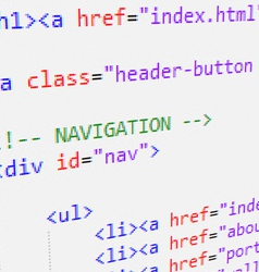 Html code vector image