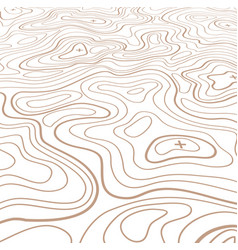 Landscape topographical map thin line background vector