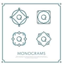 Letter q monogram vector