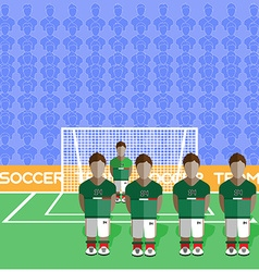 Mexico Soccer Club Penalty on a Stadium vector image vector image