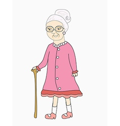 old lady - vector image vector image