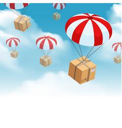 Parachute parcel delivery composition vector
