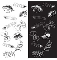 pasta hand drawn sketch vector image