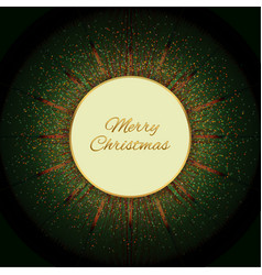 Round christmas green vector