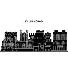 Russia kaliningrad architecture urban skyline vector