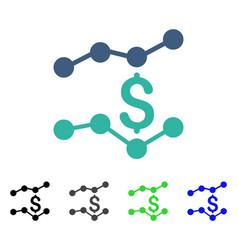 Sales charts flat icon vector