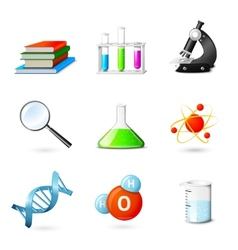 Science Realistic Icons vector image