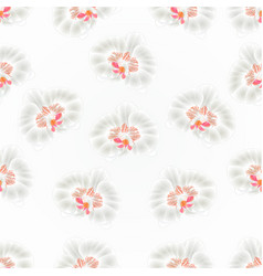 Seamless texture beautiful orchid white vector