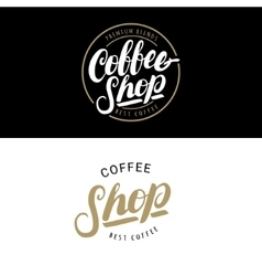 Set of Coffee Shop logos badges or labels banner vector image vector image