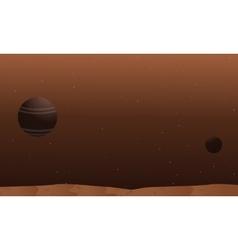 Space alien landscape collection stock vector