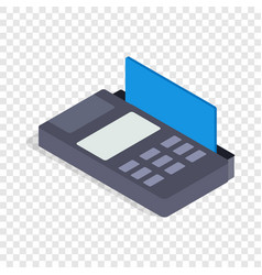 Terminal card isometric icon vector
