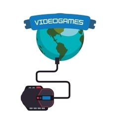 Videogames world online connection mouse system vector