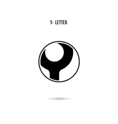 Y-letter abstract logo vector image vector image