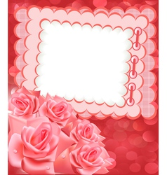 Rose photo frame vector