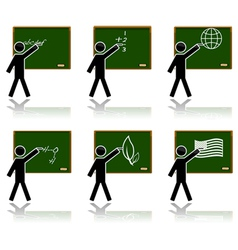 Glossy school icons vector image