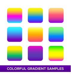 Set of colorful gradient samples vector