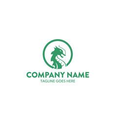 dragon logo-2 vector image