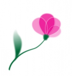 Single flower vector