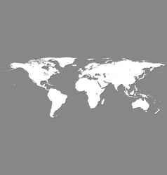 White world map on grey vector