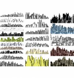 City skylines vector