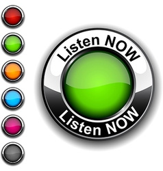 Listen now button vector