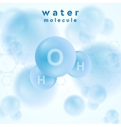 H2o water blue molecule abstract design vector