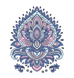 Beautiful indian floral mandala ornament vector