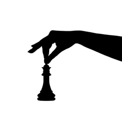 Chess piece silhouette vector