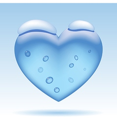 Three dimensional ice heart vector image