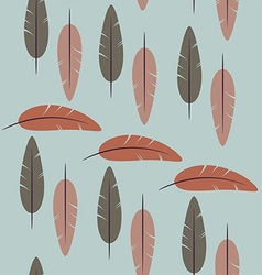 Seamless pattern of simple feathers vector