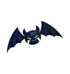 Bat icon in cartoon style vector