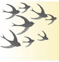 Abstract birds flying vector