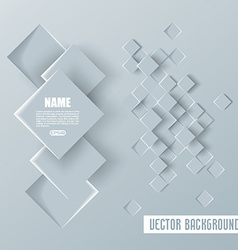 Abstract geometric paper background vector