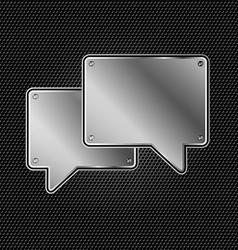 Abstract metal speech buble vector