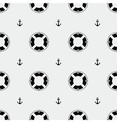 Anchor and lifebuoy pattern vector image