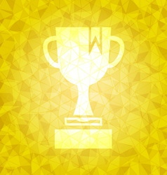 Award on gold dazzled triangle background vector