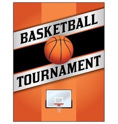 Basketball tournament flyer poster vector
