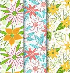 Beautiful-flower-seamless-patterns vector