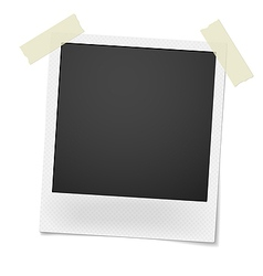 Blank retro photo frame over white background vector