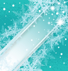 Christmas snowflakes turquoise background vector