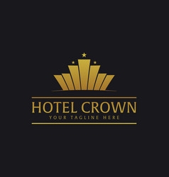 Crown hotel logo and emblem logo vector