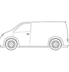 Delivery car outline drawings vector image vector image