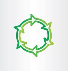 eco recycle green symbol vector image