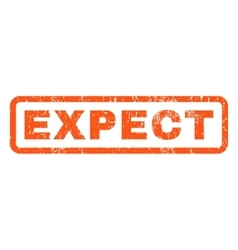 Expect rubber stamp vector