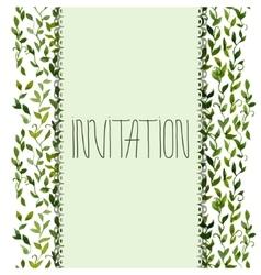 foliar frame design for greeting card vector image