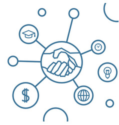 handshake infographic vector image