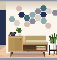 idea living room vector image