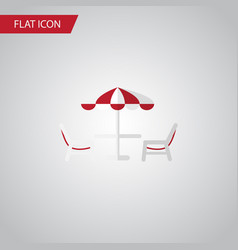 isolated beach table flat icon recliner vector image