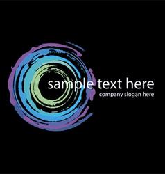 logo neon circles handmade vector image vector image